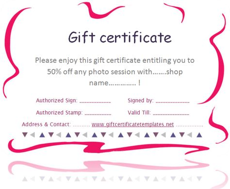 pink-border-gift-certificate-template Beautiful Printable Gift - create a voucher template