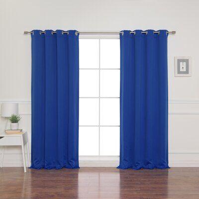 Alcott Hill Schaeffer Solid Blackout Thermal Grommet Curtain
