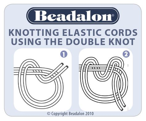 How to tie a knot in Elasticity stretch cord.