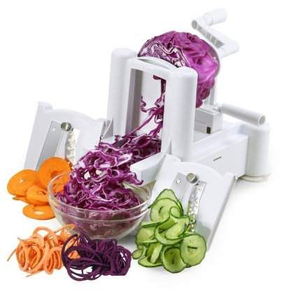 Yellowradio Abs Turning Spiral Slicer Dicer For Vegetable Fruit Zucchini Pasta Cooking Spiral Vegetable Slicer Potato Pasta