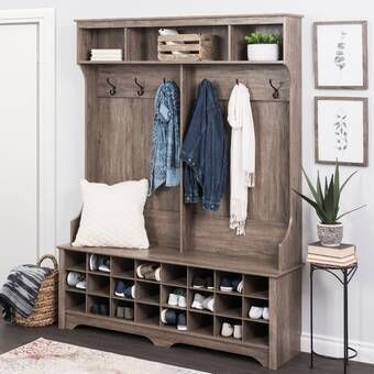 Halstead Hall Tree Bench Shoe Storage In 2020 With Images Hall