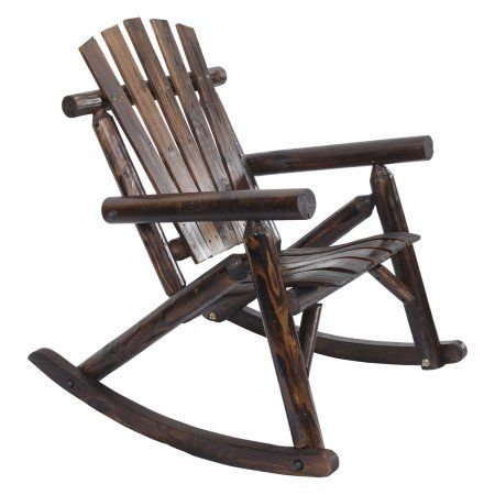 American Furniture Classics Log Rocking Chair Burnt Finish Logcabinfurniture Rocking Chair Patio Rocking Chairs American Furniture