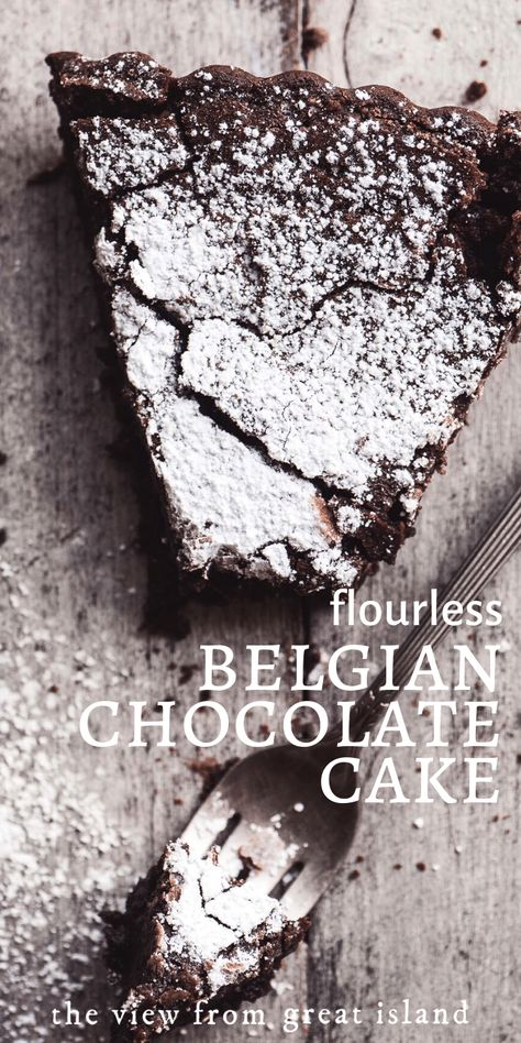 This Flourless Belgian Chocolate Cake is a. This Flourless Belgian Chocolate Cake is a chocolate lovers dream and everybody needs a great gluten free chocolate dessert in their recipe repertoire. Best Flourless Chocolate Cake, Flourless Chocolate Cakes, Cake Chocolate, Quick Chocolate Desserts, Chocolate Truffles, Moist Gluten Free Chocolate Cake Recipe, Belgian Chocolate Cake Recipe, Best Gluten Free Cake Recipe, Sugar Free Chocolate Syrup