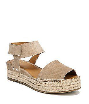dde7e1d091c Sarto by Franco Sarto Oak Suede Ankle Strap Espadrille Sandals ...