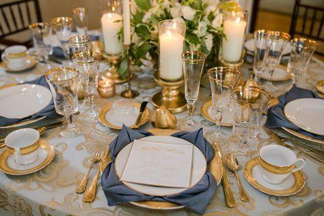 Serviettes momento 16 pcs Gold dîner serviettes mariage deco