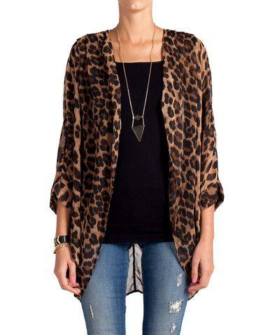 Semi Sheer Leopard Cardigan | My Style | Pinterest | Leopard ...