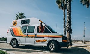 5 7 Or 14 Day Campervan Rental With Rooftop Solar Panel From Travellers Autobarn Campervan Rentals Las Vegas Campervan Rental Rv Rental Campervan
