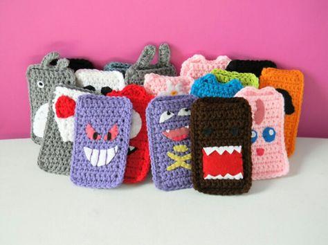 Crochet phone cases