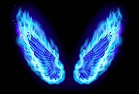 Blue Fire Wings Gambar Sayap Gambar Digital Gambar Ilusi Optik