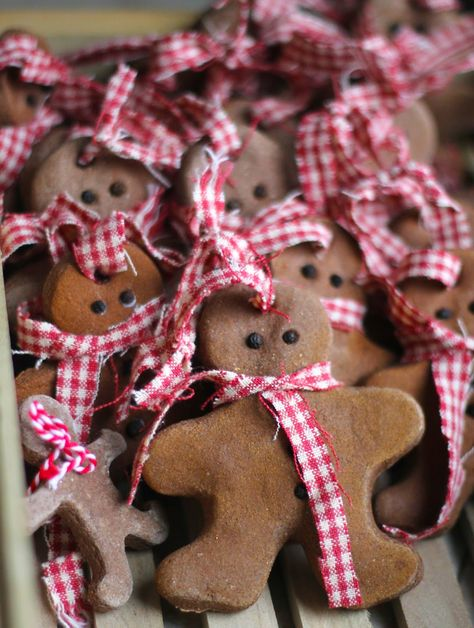 DIY Gingerbread Men Cinnamon Salt Dough Christmas Ornaments