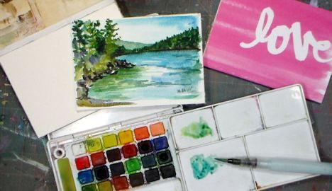 How To Make A Watercolor Block Save The Frugal Crafter