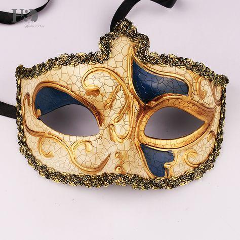 H&D Glitter Half Face Venetian Masks For Women Masquerade / Party ...