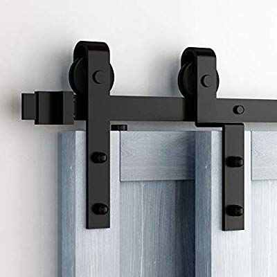 Amazon Com Homacer Sliding Barn Door Hardware Single Track Bypass Double Door Kit Barn Door Hardware Sliding Barn Door Hardware Barn Doors Sliding