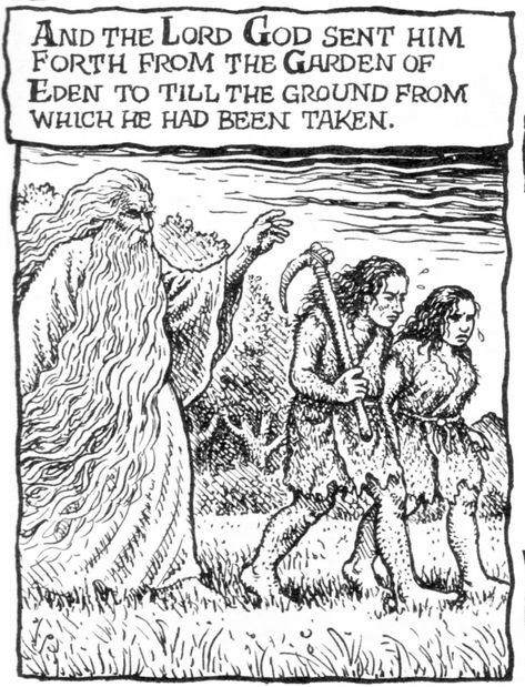 Robert Crumb Adam And Eve The Fall Genesis 3 23 With Images