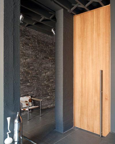 contemporary interior doors | long to floor door handle | Urban ...