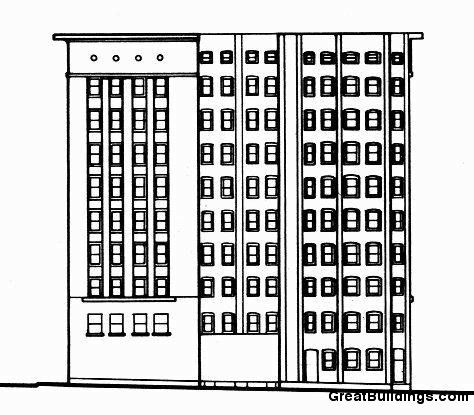 Great Buildings Drawing Wainwright Building Building Drawing