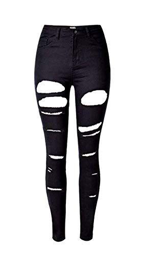Talle Bastante Ajustados Para De Mujer Ripped Butt Alto Lift Jeans nO80kwP
