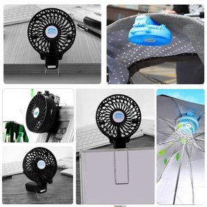 Mokiro 携帯扇風機 Usbミニ扇風機 静音 手持ち扇風機 小型 充電式 卓上扇風機 熱中症対策 Handfanくびかけ 風量3段階調節 扇風機 小型 Usb 扇風機 扇風機