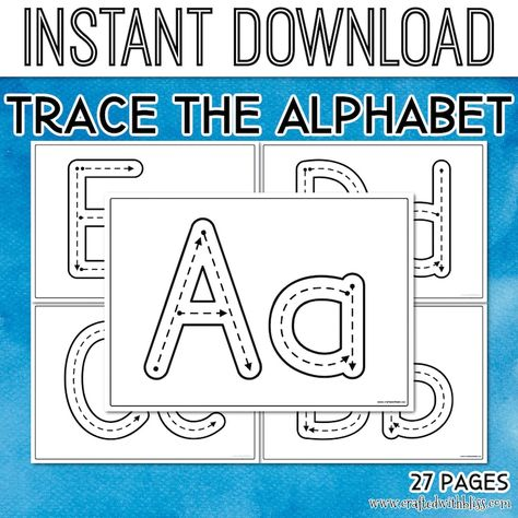 Alphabet Tracing Mats, Alphabet Activities - A to Z, Learning Alphabet, Printable Alphabet Letters Tracing Worksheets,Alphabet Tracing