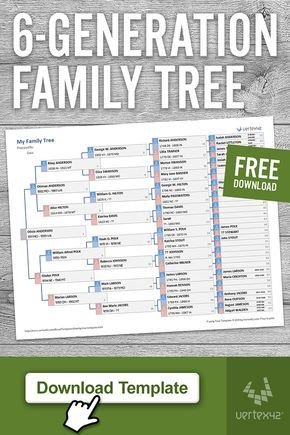Residence and Household (Templates) Obtain a free printable Household Tree Template for Excel or Goo Free Genealogy Sites, Genealogy Forms, Genealogy Chart, Family Genealogy, Genealogy Humor, Family Tree Worksheet, Free Family Tree Template, Family Tree Chart, Printable Family Tree