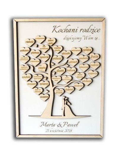 Podziekowania Dla Rodzicow Drzewko Grawer 7126233296 Oficjalne Archiwum Allegro Wedding Invitation Design Wedding Time Wedding Decorations