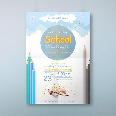 School Anniversary Invitation Card Anniversary Invitations