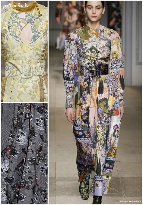 Patternbank are swooning after Erdem's rich Fall 2017 collection of glorious silk and velvet dresses, references to the Ottoman Empire and prints mixed wit