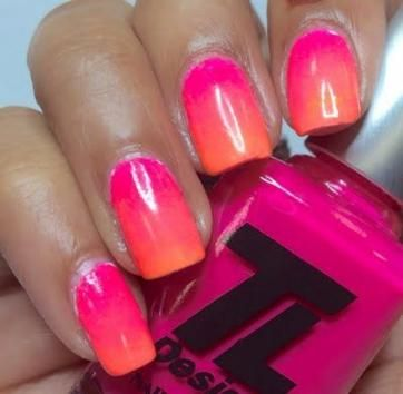 45 Ideas Nails Ombre Orange Pink With Images Pink Ombre Nails