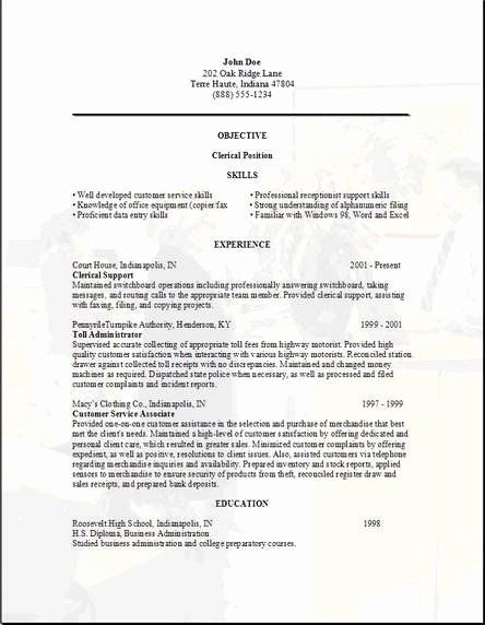 Clerical Cover Letter Examples Elegant Clerical Resume Examples Samples Free Edit With Word Cover Letter Example Letter Example Cover Letter Template Free