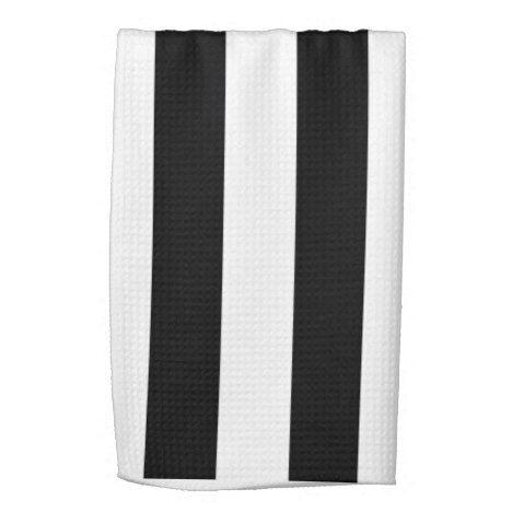 Black And White Stripe Kitchen Dish Towels Zazzle Com In 2020