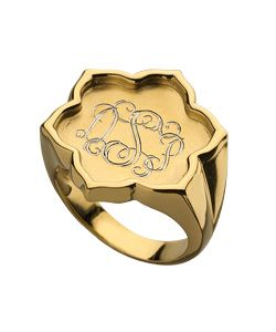Jordann Gold Vermeil Signet Ring