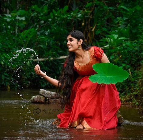 #kerala #girl #photography #photoshoot #ideas #village #nadanpennu#culture #traditional #nature #long hair #beauty