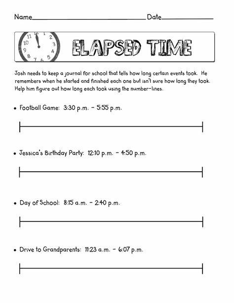 Free Elapsed Time Worksheets Table   Mathematics   Pinterest ...
