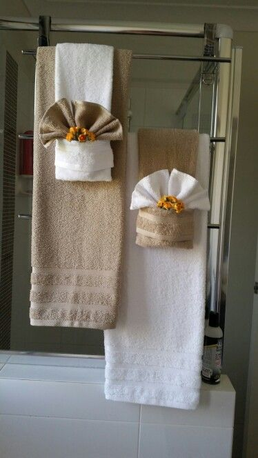 Towel Folding Bathroom Decor Decor Bathroom Pinterest - Bath towel hanging ideas for small bathroom ideas
