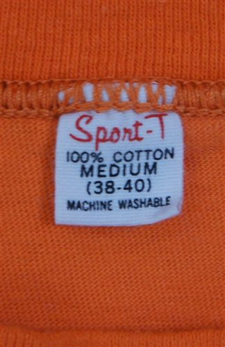 Vintage Sprort-T label