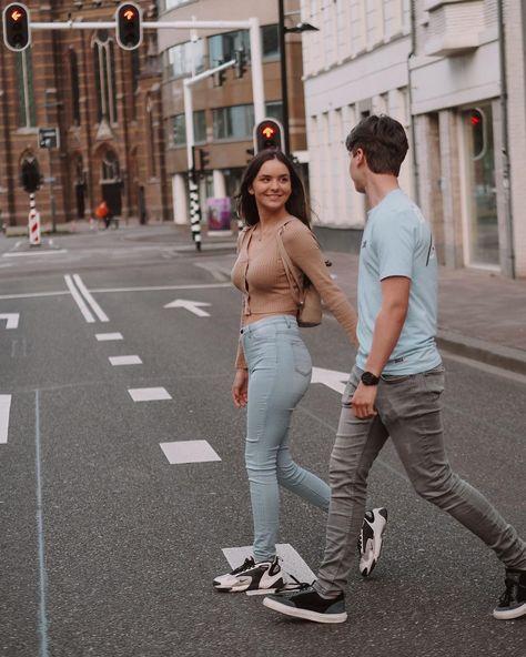 """Demivdschouw.photography's Instagram photo: """"🏙🤍 • • • • • @ninavanbuuren @timoo.013 📍 @eindhovencity #coupleshoot #newpost #photooftheday #eindhoven #couple #portraitphotography"""""""