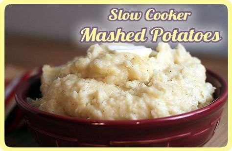 Crockpot Mashed Potatoes - Hints on choosing the right kind of potatoes, to soak the taters the day before, etc.  The recipe is not vegan.  I'll find one, try it, and leave feedback - LS
