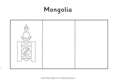 Mongolia Flag Colouring Page Flag Coloring Pages Coloring Pages