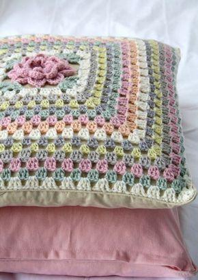 Capa De Almofada Simples De Croche Almofadas De Croche Capas De