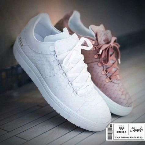 Deze Prachtige Yeye Sneakers Van Het Nederlandse Merk Nubikk Zijn Van Leer En Hebben Een Gave Textuur Ze Zijn Verkrijgbaar In Het Wit Schoenen Sneaker Shoes