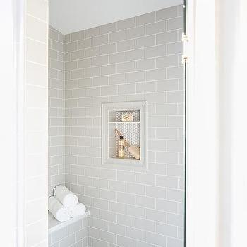Light Gray Subway Tiles With Tile Framed Shower Ni Framed
