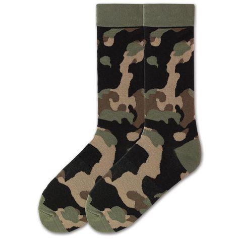 Camo socks for man,camouflage socks for men,brown camouflage pattern socks