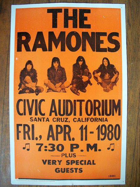 Magnet The Ramones Concert Poster America's first punk rock band Concert poster from 1980