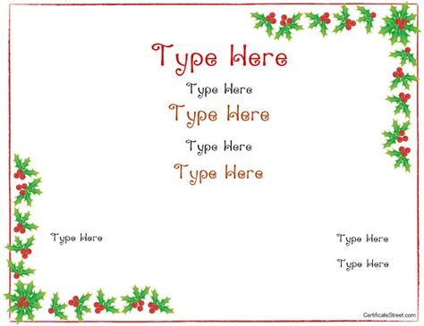 christmas certificate template free  Best 25  Gift certificate templates ideas on Pinterest | Gift ...
