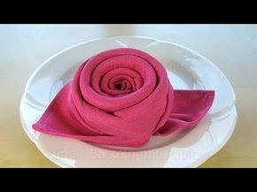 Piegare Tovaglioli A Rosa.Piegare I Tovaglioli Rosa Fiore Piegare Tovaglioli Di