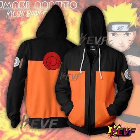 Naruto Hoodie -Naruto Zip Up Hoodie - Naruto Jacket