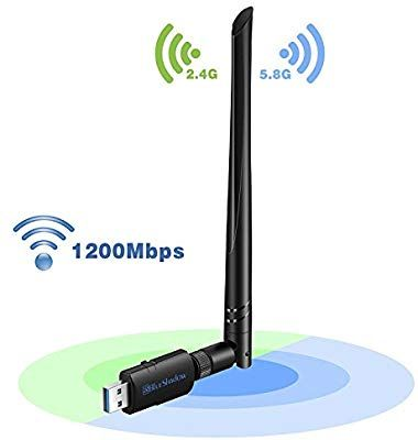 1200Mbps Wireless USB WiFi Network Adapter Dual Band 2.4//5G w//Antenna 802.11AC