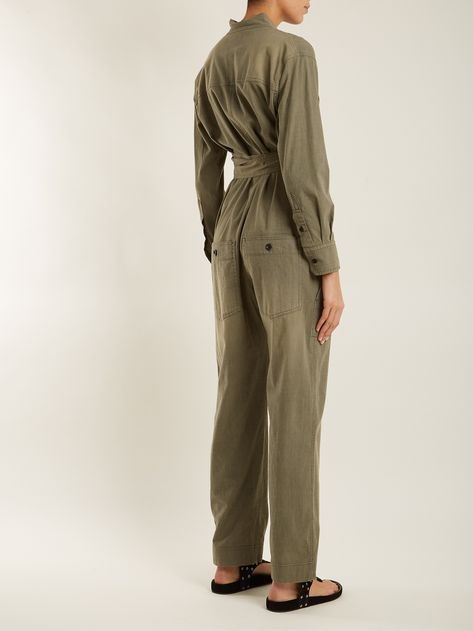 0b37d2826eb6 Click here to buy Isabel Marant Étoile Lucia tie-waist cotton-blend jumpsuit  at MATCHESFASHION.COM