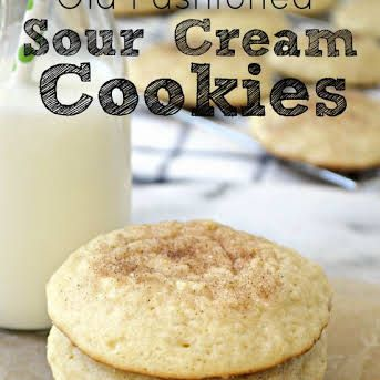 Old Fashioned Sour Cream Cookies Recipe Yummly Recipe Sour Cream Cookies Sour Cream Recipes Cookie Recipes