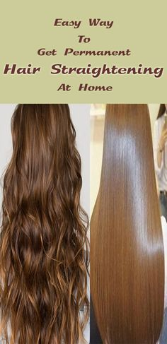 Learn how to straighten hair at home. Now You have done hair